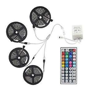 Lot de 4 bandes LED RGB 5050 avec télecommande -  (4 x 5m)