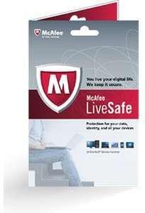 Licence 1an McAfee LiveSafe gratuite (au lieu de 89.95€)