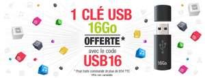 Clé USB 16 Go offerte dès 85€ d'achat