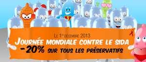 Journée mondiale contre le SIDA : -20 % sur les préservatifs