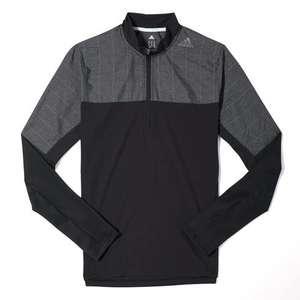 T-shirt 1/2 Zip à Manches Longues Running adidas Supernova Storm Noir pour Hommes - Tailles au choix