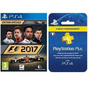 F1 2017 Édition Spécial sur PS4 + Abonnement PlayStation Plus 3 mois