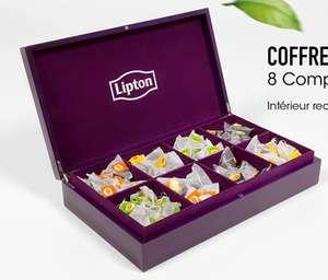 Boite à thé + 200 sachets thé et infusion divers parfums Lipton