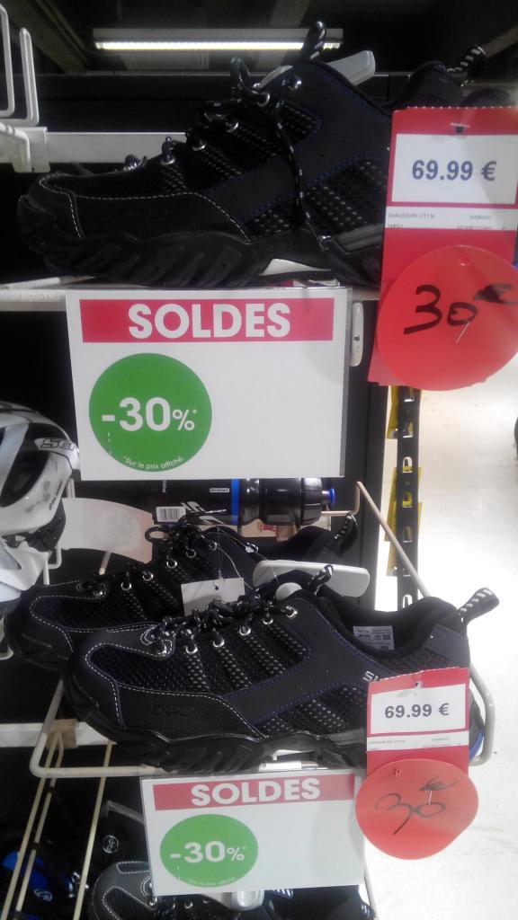Chaussures automatiques VTT Shimano (SPD) MT33L noir (pointures 41 et 43 uniquement)