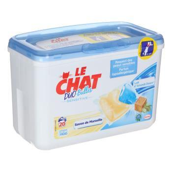 Lessive Le Chat Duo Bulles Sensitives 20 Capsules