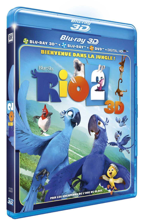 70% de réduction sur tout le rayon DVD, Blu-ray, Blu-ray 3D - Ex : Blu-ray 3D Rio 2 - 3D Combo 2 BR + DVD