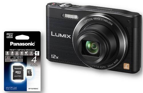 Appareil Photo Compact Panasonic Lumix DMC-SZ8K + Carte SD 4Go