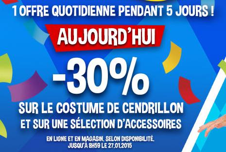 30% de réduction sur les déguisements