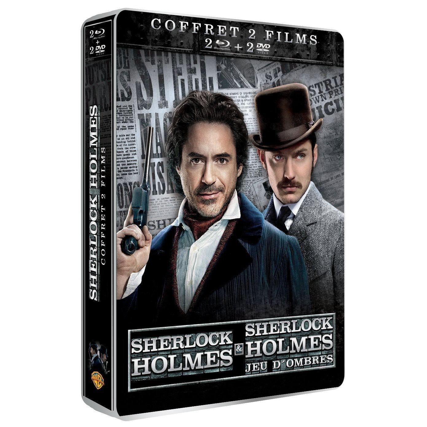 Coffret collector Blu-ray SteelBook Sherlock  Holmes + Sherlock Holmes 2 : Jeu d'ombres