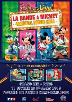 Pack de places en promo pour Spectacle La Bande à Mickey au grand Rex - Ex : Pack de 4 places