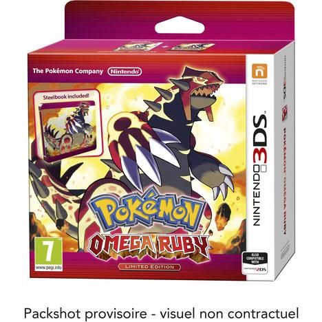 Pokémon Rubis Oméga / Saphir Alpha sur 3DS Edition Limitée (Jeu + Steelbook)