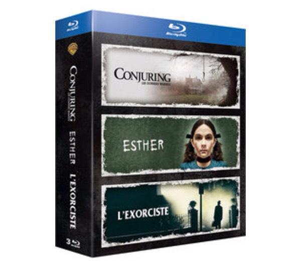 Coffret Blu-ray : Conjuring : les dossiers Warren + L'exorciste en version integrale+ Esther