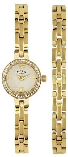 Montre bracelet Rotary LB00215/BR/40 - Acier inoxydable - doré - Femme
