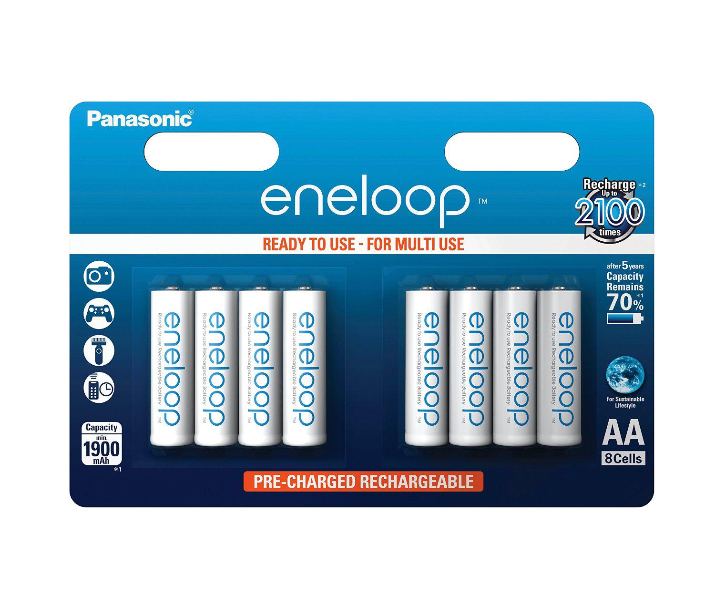 8 Panasonic Eneloop BK-3MCCE 2000mAh + Pro AA/R6 BK-3HCCE, BK-3MCCE , AAA/R3 BK-4HCC et BK-4MCCE