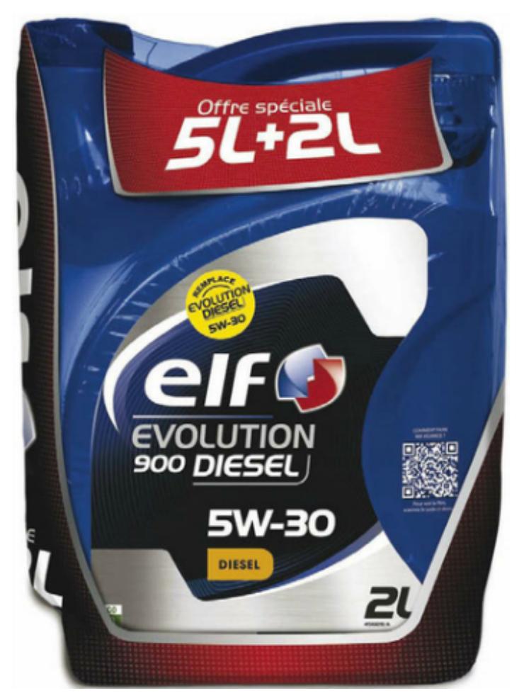 Huile Moteur Elf Evolution 5W-30 Diesel ou Essence 7L (avec 30% en tickets E. Leclerc)