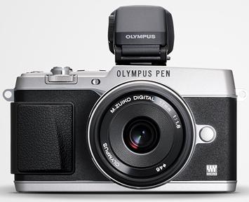 Appareil photo Olympus PEN E-P5 + objectif + viseur électronique