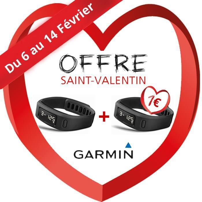 2 bracelets d'activité Garmin Vivofit - Noir