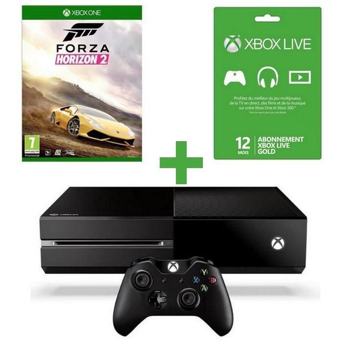 Console Xbox One + Forza Horizon 2 + 12 mois de Xbox Live