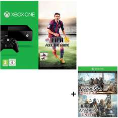 Console Xbox One + 3 jeux (Fifa 15 + Assassin's creed Black Flag + Unity)