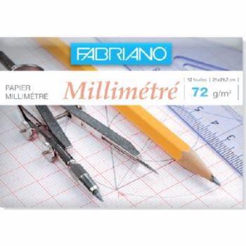 Papier millimétré Fabriano 72g - 21*29.7 cm