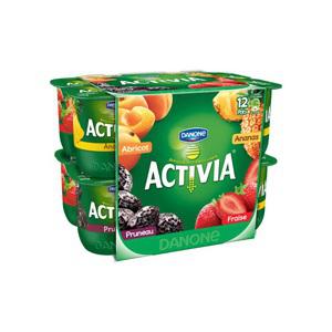 Yaourts Danone Activia Fruits x12 (Avec 1.14€ sur la carte et 0.45€ en BDR)