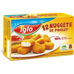 Lot de 2 paquets de 12 nuggets de Poulet Iglo (50% sur carte + bon de réduction)+Bénéfices