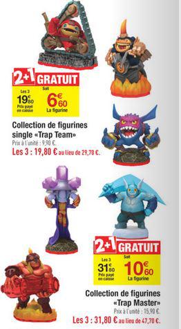 Pour 2 figurines trap team achetées, la troisième est gratuite