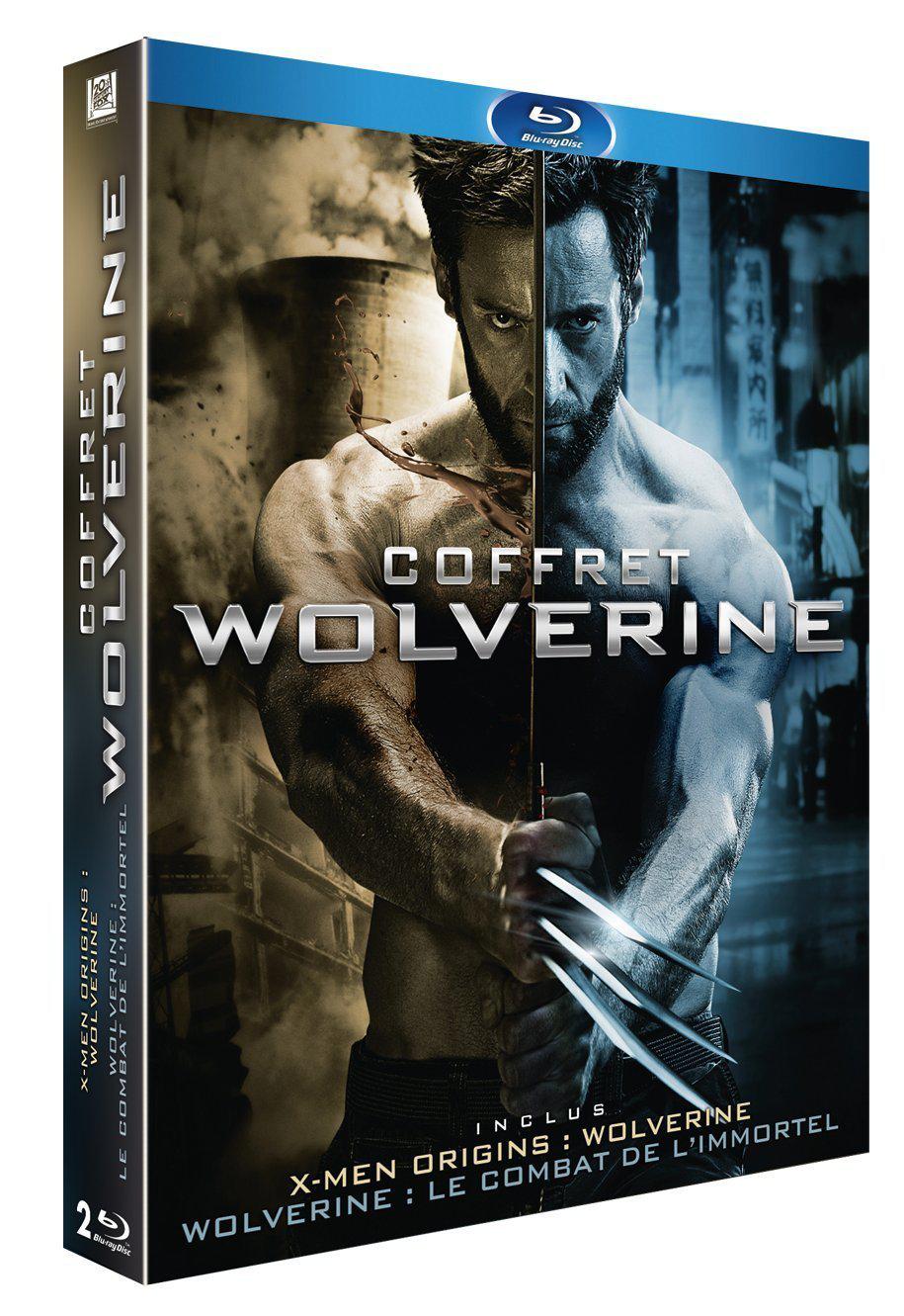 Coffret Wolverine : X-Men Origins: Wolverine + Wolverine : Le combat de l'immortel en Blu-ray