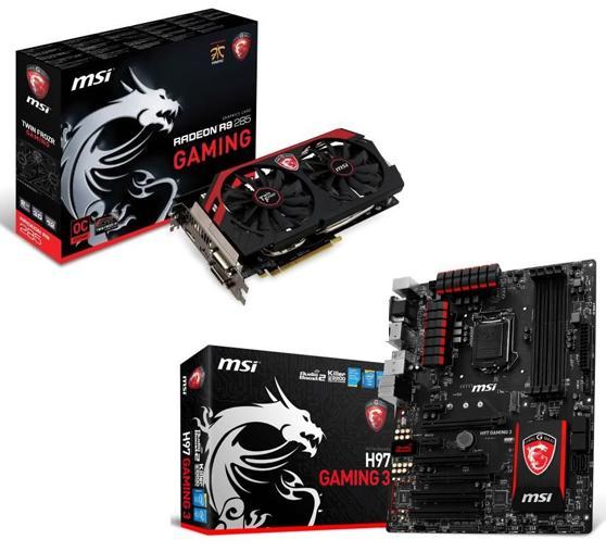Carte Graphique MSI Radeon R9 285 Gaming 2Go DDR5 + Carte Mére MSI H97 Gaming 3 (Avec ODR de 30€)