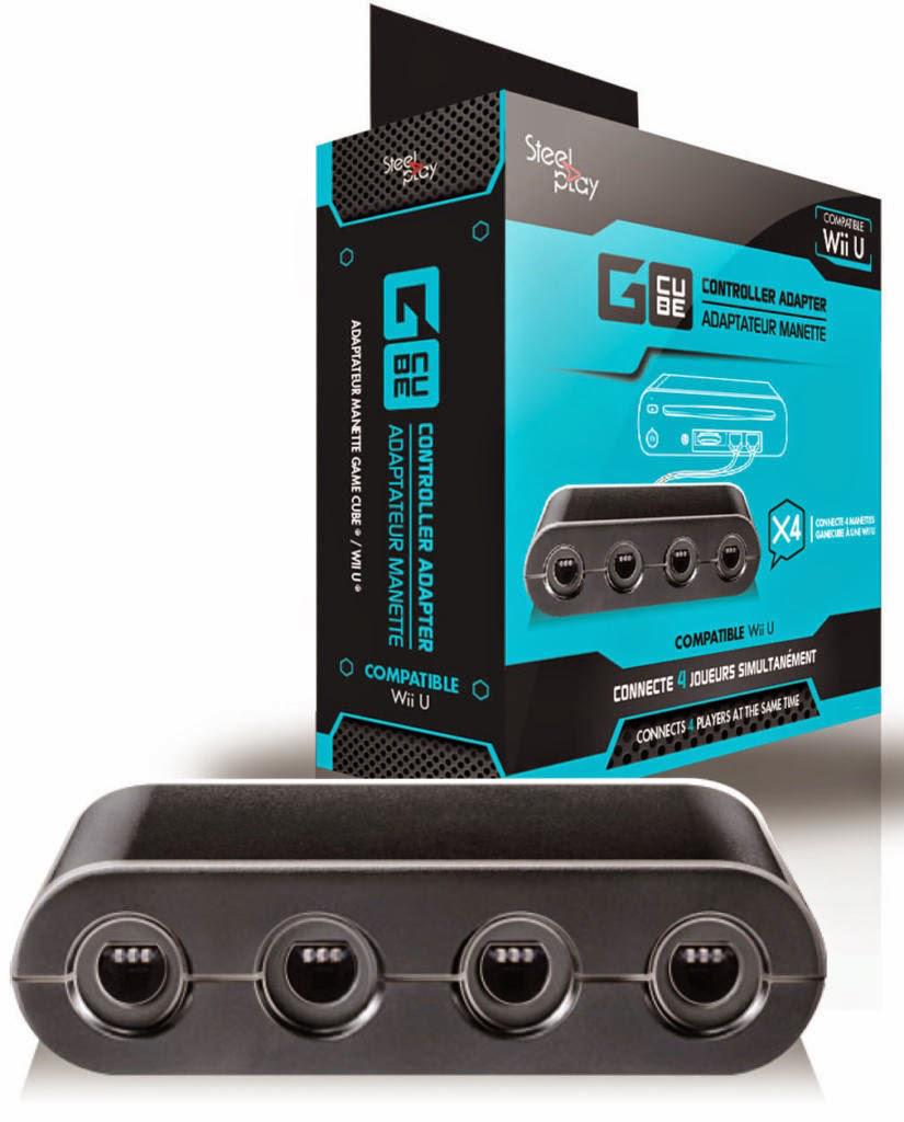 adaptateur Steelplay Gcube Controller Adapter pour Wii U