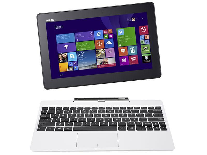 "PC Portable Hybride 10.1"" Asus T100 - Atom Z3775 - HDD 500 Go + eMMC 32 Go - RAM 2 Go - Win 8.1 - Blanc"