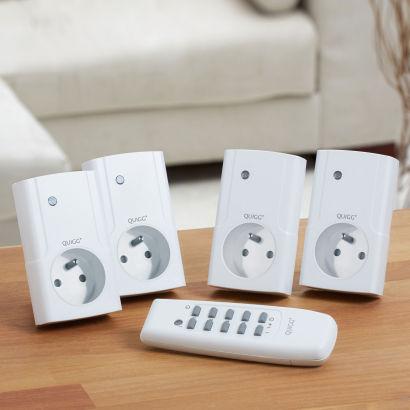 Set de 4 prises télécommandées interieures ou 2 prises exterieures ip44 au choix