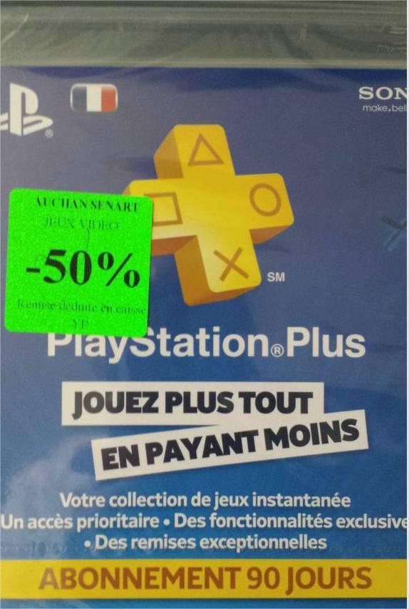 50% de remise sur les cartes Playstation Plus et Xbox Live - Ex: Abonnement Playstation Plus 90j