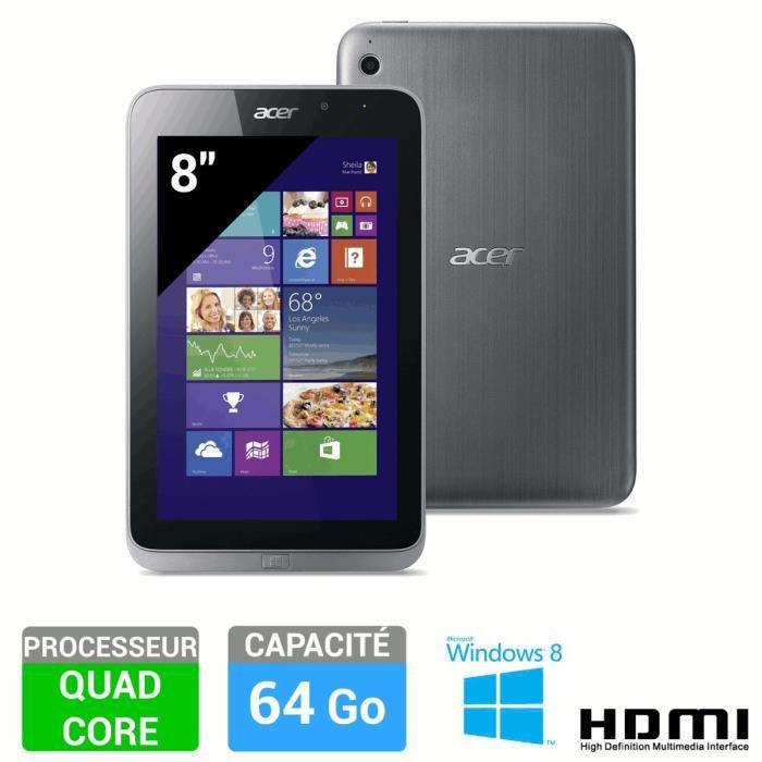 "Tablette 8"" Acer Iconia W4-820 64Go / 2Go - Windows 8.1 Pro"