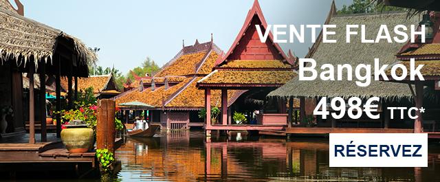 Vol Aller/Retour au départ de  Paris et à destination de Bangkok (Thailande)