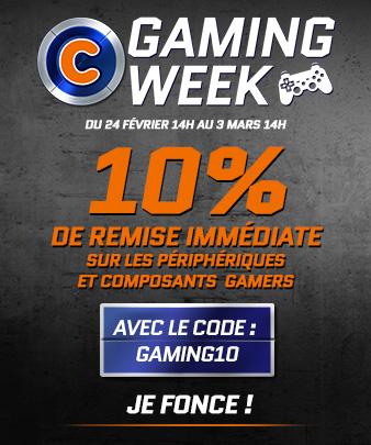 10% de réduction sur une sélection de périphériques et composants gaming