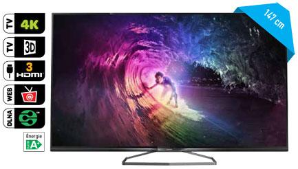 "TV 58"" Philips 58PUK6809 - 4K Ultra HD, Smart TV"