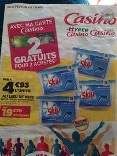 Lot de 4 boites de 32 doses de lavages Skip active clean