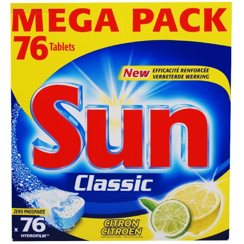 tabettes lave-vaisselle Sun Classic 76 pièces citron