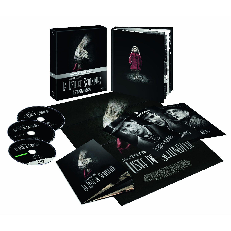 Coffret Blu-ray : La Liste de Schindler – Edition Collector (Copie numérique + Livrets + Cartes + DVD)