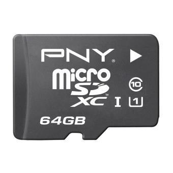 Carte mémoire MicroSDHC PNY 64Go Classe 10 UHS-1