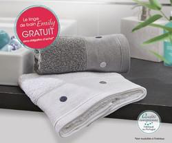 2 serviettes de toilette & gel douche Thalasso offerts + livraison gratuite pour toute commande