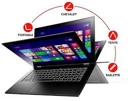 """PC Portable Hybride Tactile 13"""" Lenovo Yoga 2 13 Noir (Intel Core i5, 8 Go de RAM, 256 Go, Windows 8.1)"""