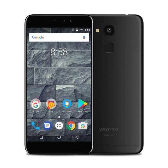 "Smartphone 5,2"" Vernee M5 - MTK6750, RAM 4 Go, ROM 64 Go, Noir ou Bleu (Avec B20)"
