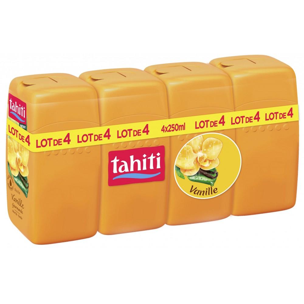 Lot de 4 Tahiti Douche - Différentes variétés (250 ml)