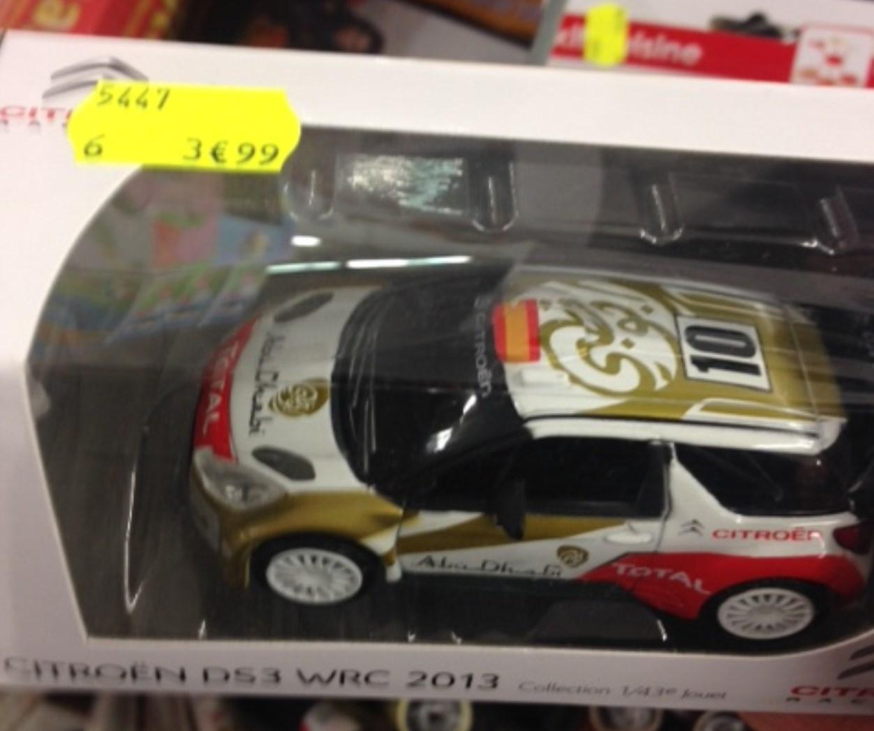 Voiture miniature Citroen DS3 WRC 2013 (Maxplus Aucamville - 31)
