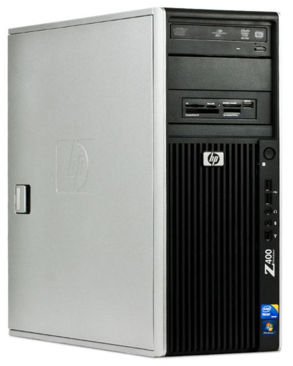 PC de bureau HP Workstation Z400 - Intel Xeon Quad Core 2.67 Ghz - Quadro 4000 - RAM 8 Go - HDD 250 Go - Windows 7 Pro 64 bits - reconditionné