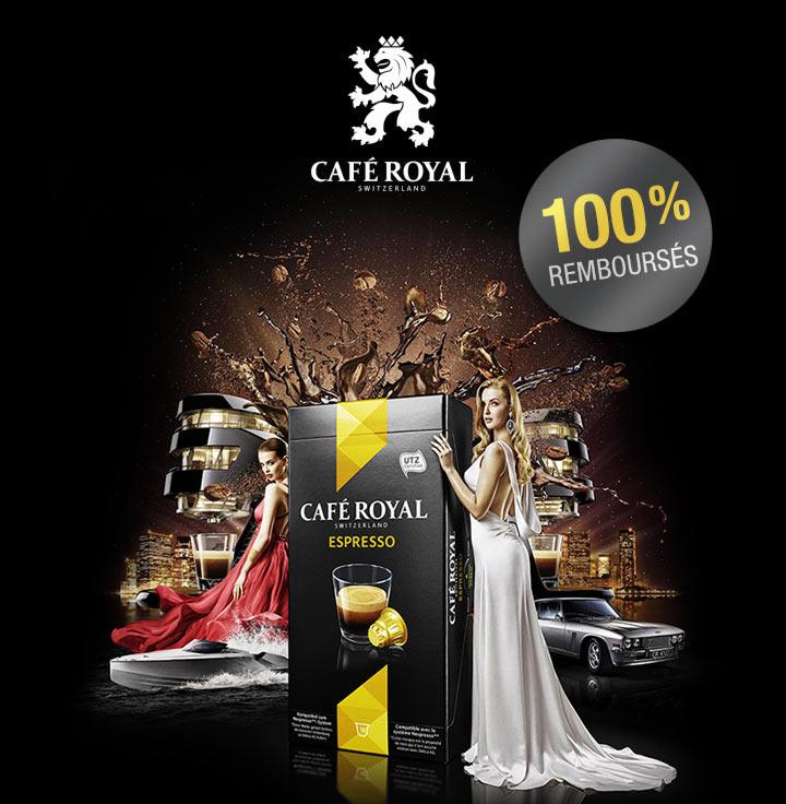 Capsules Café Royal gratuites via shopmium