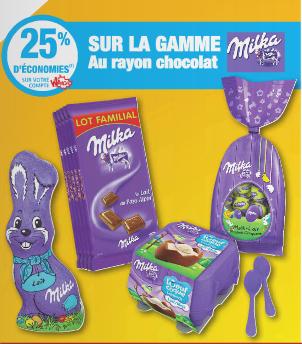 25% crédités sur le compte Whaooh sur la gamme chocolat Milka