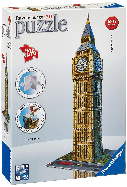 50% remboursés pour l'achat d'un jeu Ravensburger parmi une sélection - Ex : Puzzle 3D Big Ben (216 pièces)